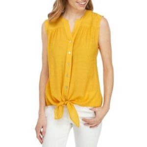 New Directions medium Top Tie Front Yellow Gold